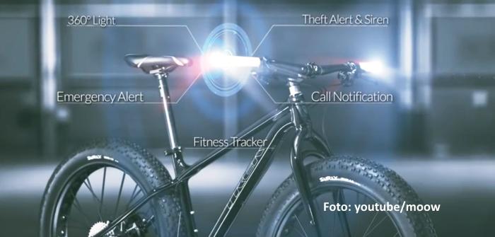 Alarmanlage fürs Fahrrad - von moow