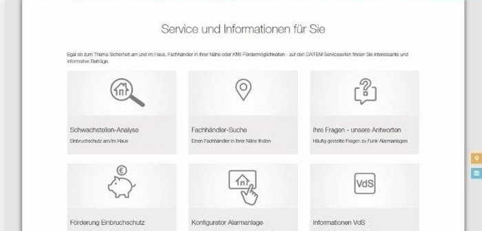 DAITEM-Infoportal (Bild: Atral-Secal GmbH)