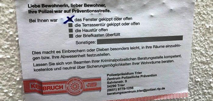 Einbruchschutz (LKA Rheinland-Pfalz)